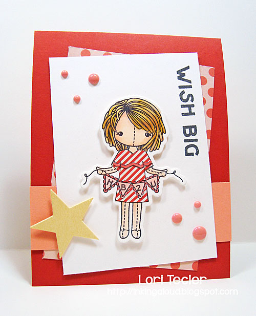 Wish Big card-designed by Lori Tecler/Inking Aloud-stamps and dies from Clear and Simple Stamps