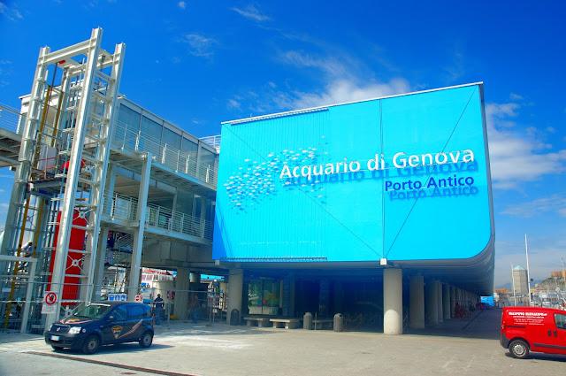 ogromne akwarium w Genui koło portu