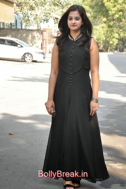 Nanditha Photos, Nanditha Hot Pics In Black Dress from Movie Krishnamma Kalipindi Iddarini Shooting Spot