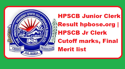 HPSCB Junior Clerk Result 2019