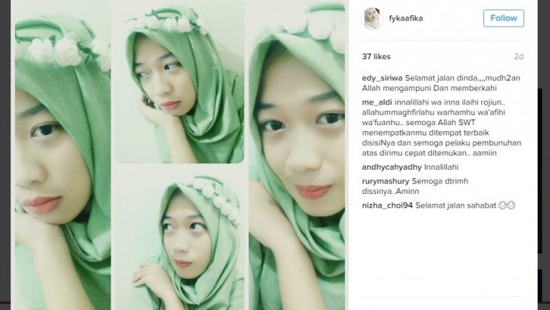 Foto terakhir Rafika Hasanuddin di Instagram