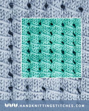 Hand Knitting Stitches - Pillar Openwork Textured Pattern