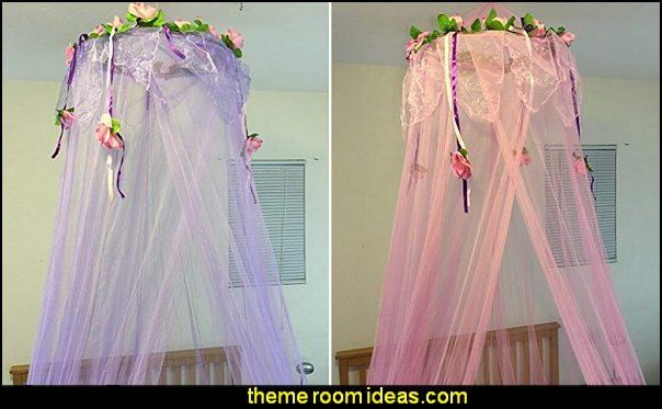 Flower Top Around Bed Canopy Mosquito Net for Bed, Dressing Room pink purple  Bed canopy -  Bed Canopies - Bed Crown - Mosquito Netting - Bed Tents - Canopy Beds - Post Bed Canopies - Luxury Canopy netting   - girls bed canopy - Bed Curtains - Curtain Canopy - Canopy Play Tent - Princess canopy - moon stars canopy -