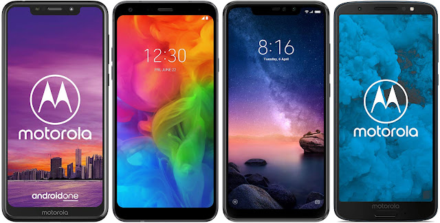 Motorola One 32 GB vs LG Q7 32 GB vs Xiaomi Redmi Note 6 Pro 32G vs Motorola Moto G6 32 GB