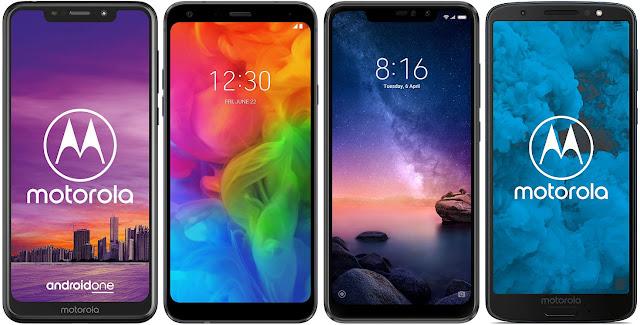 Motorola One 32 GB vs LG Q7 32 GB vs Xiaomi Redmi Note 6 Pro 32G vs Motorola Moto G6 32 GB