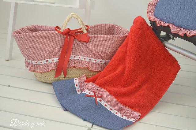 toalla playa roja