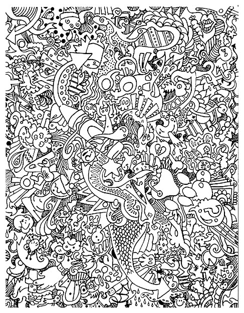 Free Coloring Page Coloringdoodleartdoodling Very Plex Doodle