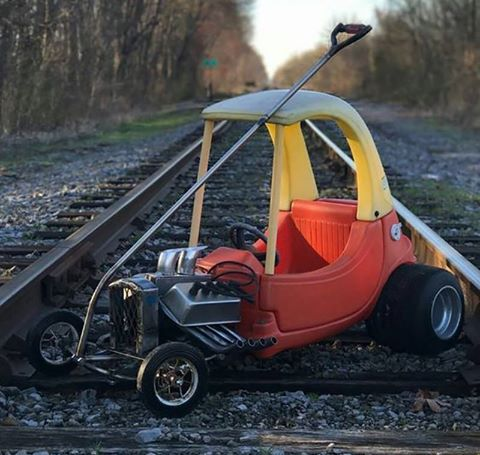 One Thing Leads To Another The Hot Rod Cozy Coupe Inspired A Real Build Of Self Ed Oversized Kids Cart