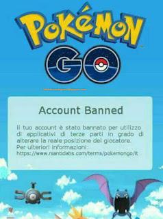 banned permanen akun pokemon go