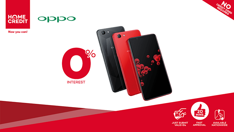 OPPO F7 Youth now available at Home Credit's 0% program