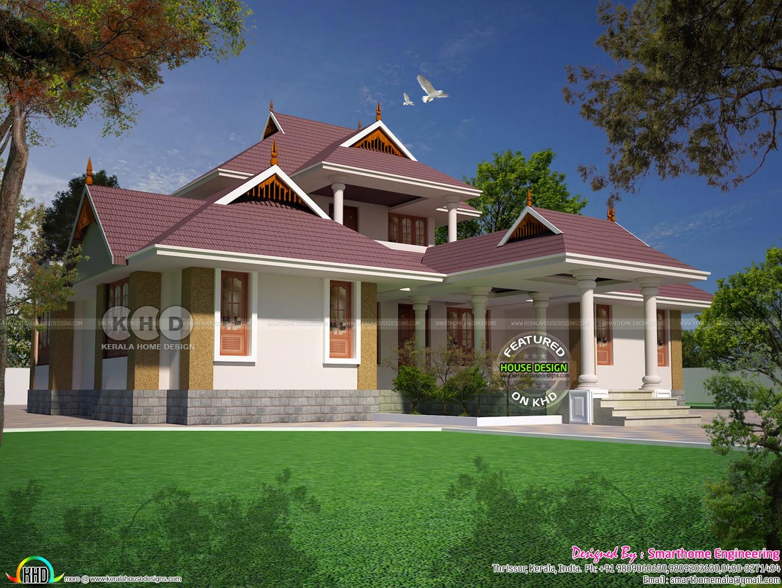 Kerala Style 4 Bedroom House 2230 Sq Ft Kerala Home Design