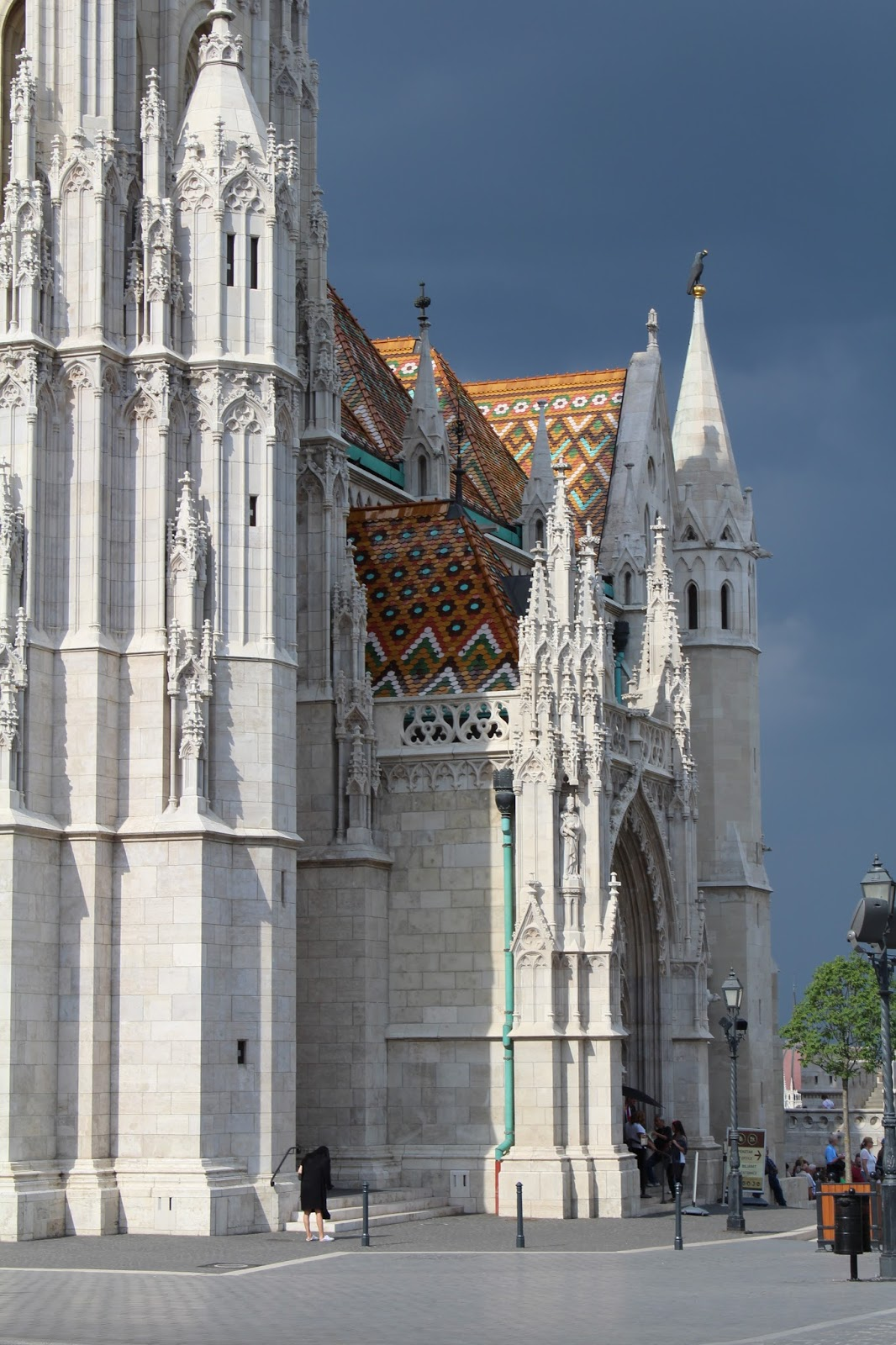 Coloured tiled roof of Matthias Church in Budapest