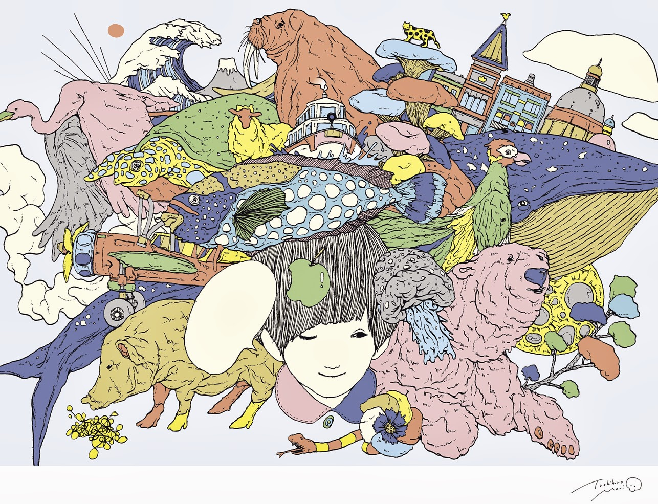 Toshihiro Mori 森 俊博. Pastel Wonderlands. Ilustración | Illustration