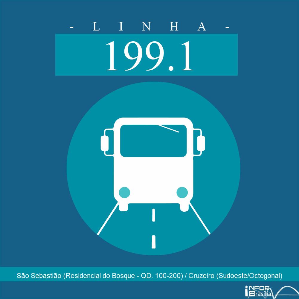 Horário de ônibus e itinerário 199.1 - São Sebastião (Residencial do Bosque - QD. 100-200) / Cruzeiro (Sudoeste/Octogonal)