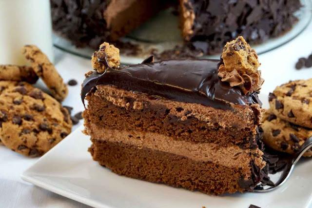 Trozo de tarta muerte por chocolate