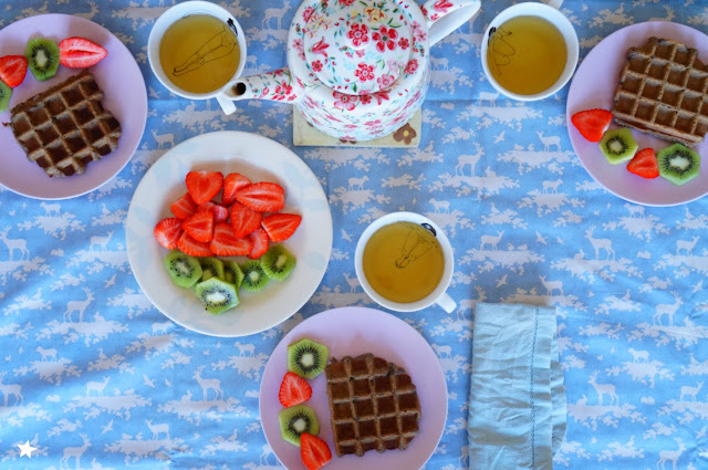 healthyfood lifestyle tablestyling waffles