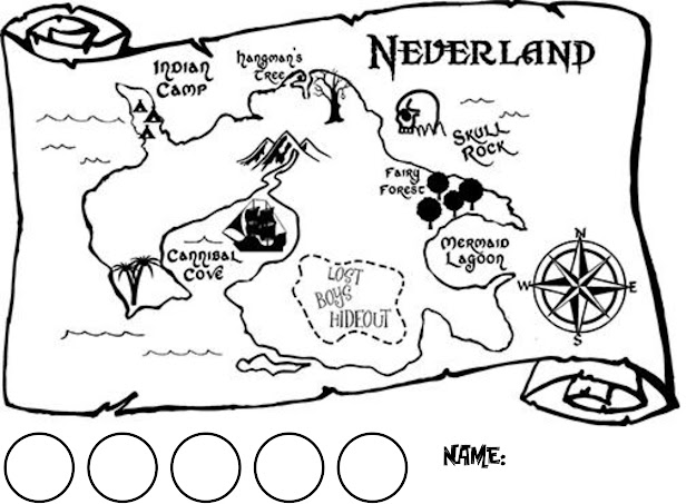Pan Must Have Returned Because Neverland Has Never Looked As Alive As It  Does In Our New Map Of Neverland Design Shown Here In Our Black Color With  The