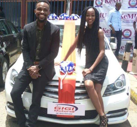 20-year-old girl borrows money from her dad to buy her boyfriend of 4years a brand new Mercedes on Valentine's day (Photos)