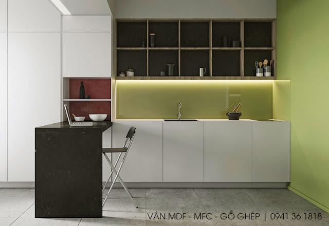thiết kế không gian bếp đẹp