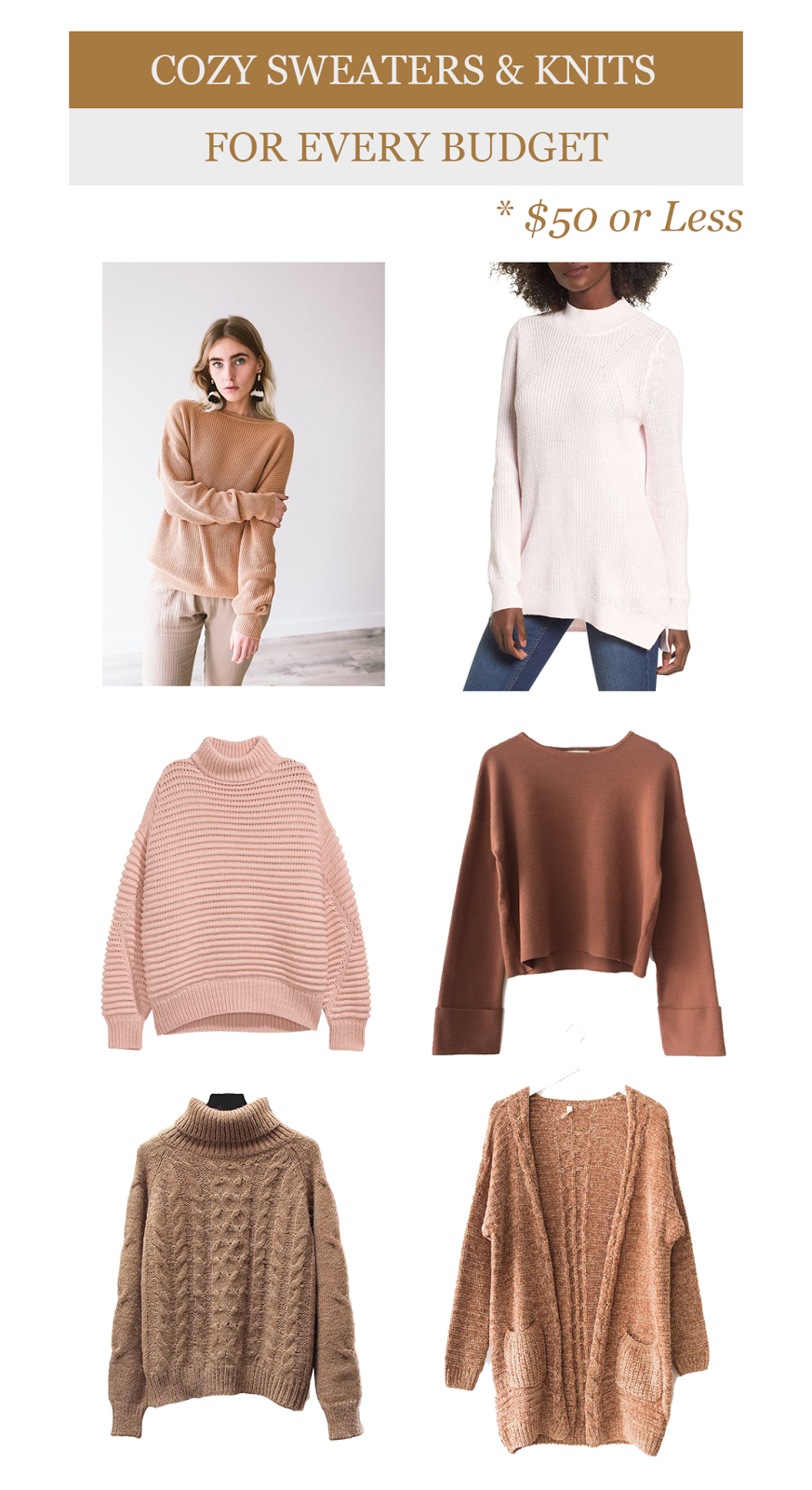 Sweater Weather: Cozy Knits For Every Budget | Kayla Lynn