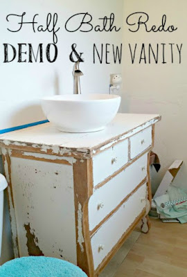 How to use a dresser as a bathroom sink vanity