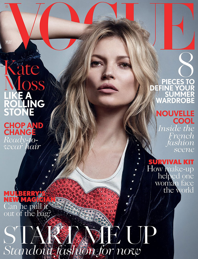 Kate Moss is rock chic for Vogue UK May 2016