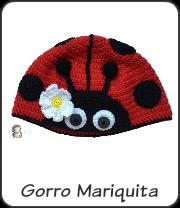 Gorro mariquita a crochet