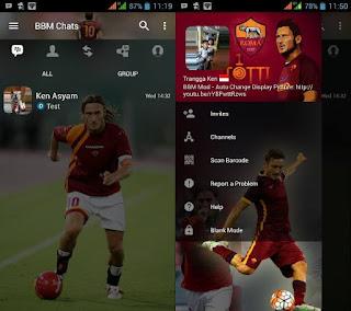 Download BBM MOD Special Totti Apk Terbaru Update Gratis 2017 For Android