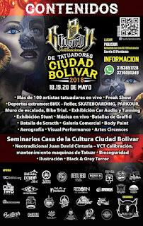 POSTER 2 3RA Convencion de Tatuadores Ciudad Bolívar 2018