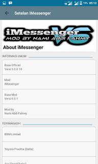 Download BBM MOD iMessenger V6 APK V3.0.0.18 Terbaru 2016