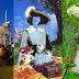 Fotomontajes Infantiles psd Astronauta y la niña de las flores