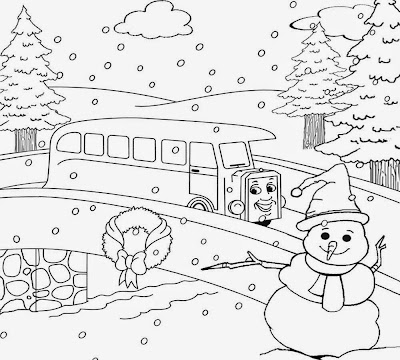 Clipart Frozen Beautiful Countryside Snow Fall Scenery Christmas Winter Coloring Pages For Teenagers