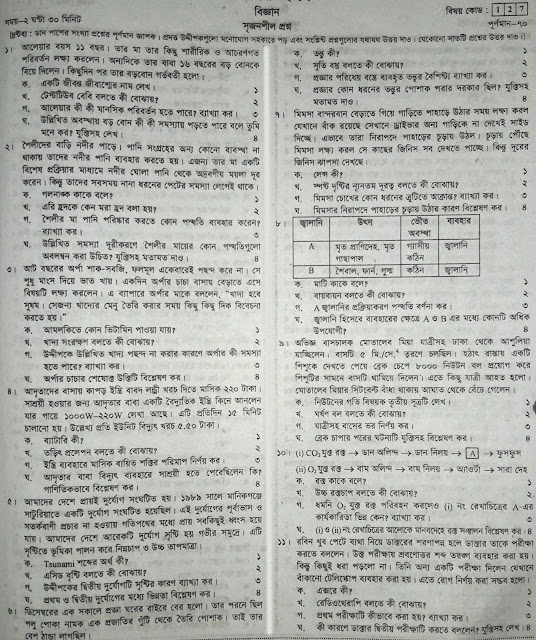 SSC General Science Model Question - 03