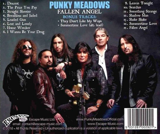 PUNKY MEADOWS - Fallen Angel [Special Edition +2] (2016) back
