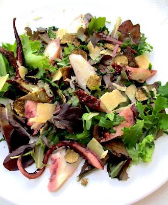 Salade de Poulpe, Artichaut, Parmesan & Aestivum