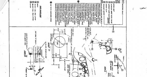 phscollectorcarworld: 1967 Pontiac GTO hood tach Diagram and positioning Template