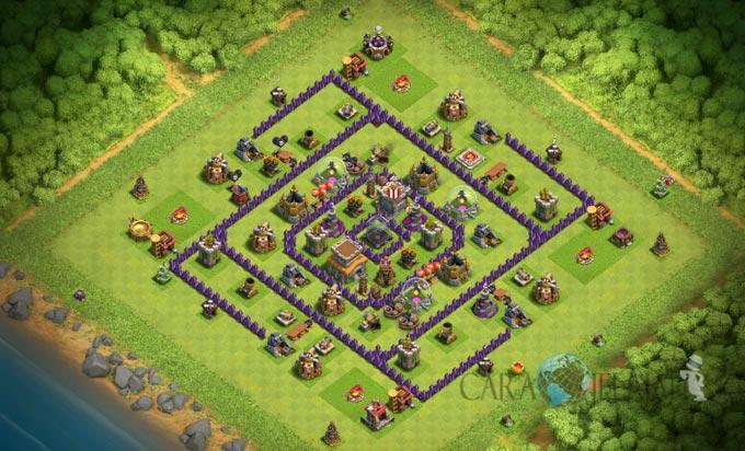 Base Farming TH 8 Clash Of Clans Terbaru 2017 tipe 9