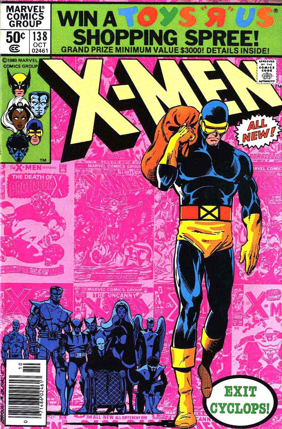 X-men v1 #138 marvel comic book cover art by John Byrne