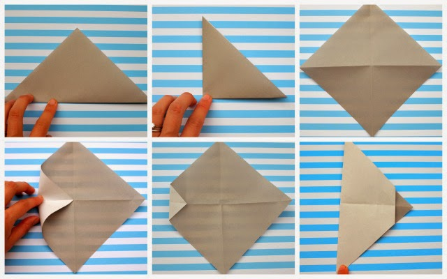 how to fold origami face with kids (steps 1-6)