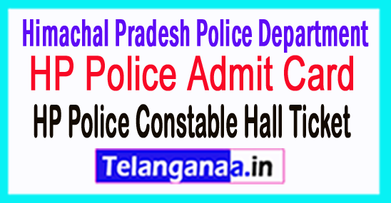 HP Police Admit Card 2018 Download HP Police Exam Hall Ticket