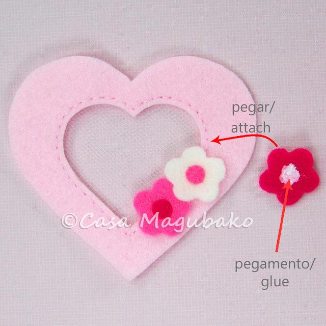 Casa Magubako's Diary: Sobre de Fieltro en Forma de Corazón ...