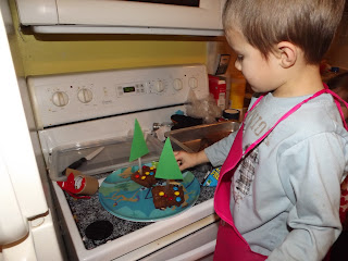 adding m&ms to brownies