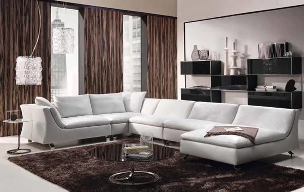 Salón muebles blancos