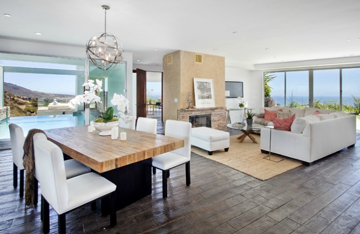Coastal great room with ocean view