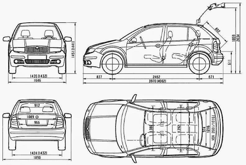 Ford samochod: Wymiary skoda fabia