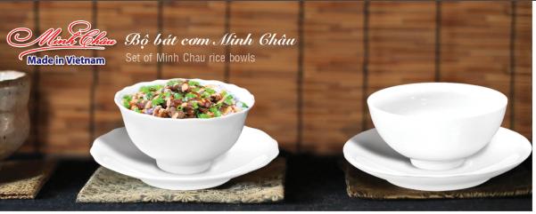 Bát đĩa sứ Minh Châu