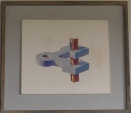 Pennsylvania Artist Francis Quirk , Impossible Art Painting by Francis J. Quirk