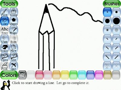 Tux Paint, program gratuit de desen pentru copii