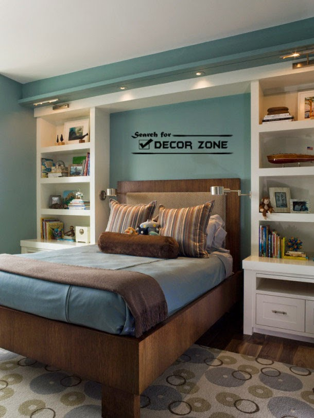 bedroom shelves: how and where to install shelves in the