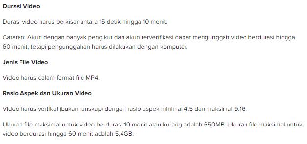 syarat video IGTV